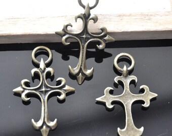 10pcs Antique Bronze Retro Victorian Charms Pendants 30*47mm--G0020