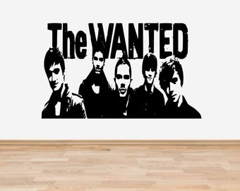 The Wanted Boy Band vinyl wall art sticker mural -16 colours & 4 Sizes - fms18
