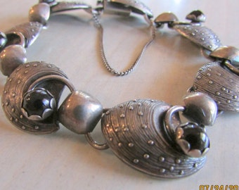 Alton Vintage Swedish Sterling Silver and Glass Bracelet