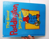 """Vintage 1989 Hardback Book """"The Giant Paddington Story Book"""" by Michael Bond, Gallery Books, Fully Illustrated, Large Print"""