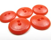 Candy Red Plastic Buttons