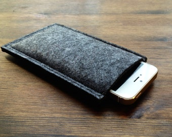 iPhone 5 5C 5S Felt Sleeve Case