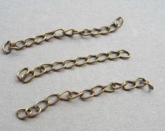 200 pcs of 4.5-5cm Long x 3mm wide Exquisite Antique bronze  Tail Chain