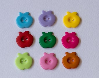 Resin apple buttons