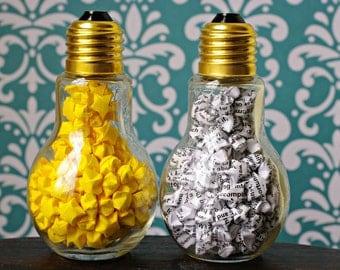 Lightbulb Jar of Folded Stars