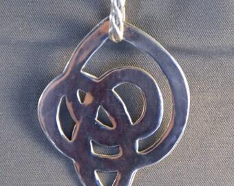 Celtic Inspired Silver Pendant