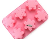silicone mold baking mold snowflake molds chocolate mold tray mold cake mold decoration tools jelly molds candy mold handmade B0143