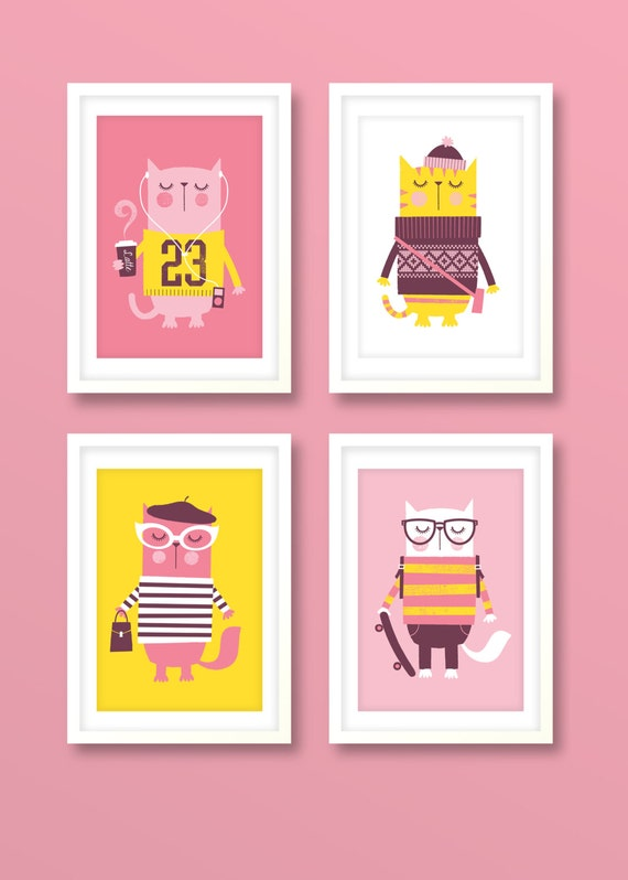 Hipster Cat Prints