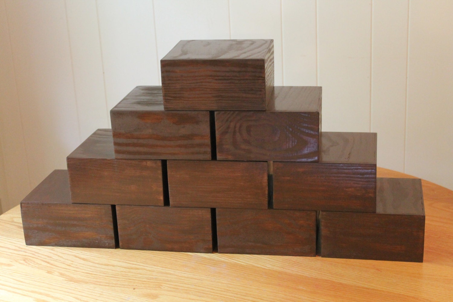 Wooden stand plinth table centerpiece riser box display