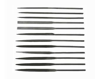 Needle File Set - 12 Pieces - Cut #2 for Jewelry Making - 33-990