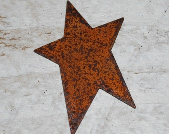 "1-3/4"" Rusty Tin Stars ... set of 12 primitive Stars .. scrapbook, craft embelllishments"