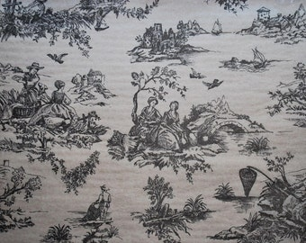 Black French Toile on Light Tan background Tissue Paper # 321 / Gift Paper - 10 large sheets