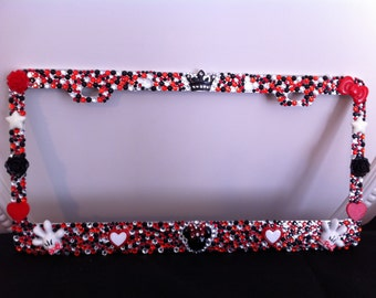 Happiest Place On Earth Red And Black Minnie Mouse Bling