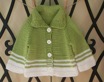 Hand knit baby sweater - Neverland