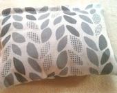Organic Cotton Catnip Pillow - GOTS certified Organic Cotton - Gray leaves