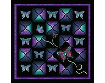 Rosie Co Dancing Butterflies Quilt Pattern Queen