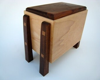Modern Contemporary Small Cremation Urn by Studio 1212 Furniture - Handmade in Idaho