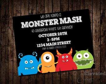 Monster Mash Invitation