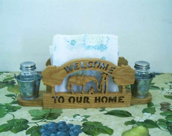 Cowboy & Cowgirl Napkin Holder