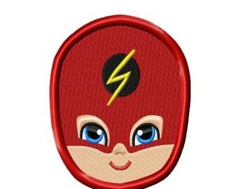 Super Hero Face 2 Applique Machine Embroidery DESIGN NO.51