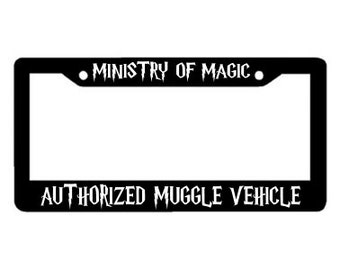 Harry Potter Plate Cover - Ministry of Magic Authorized Muggle Vehicle - Harry Potter License Plate Cover