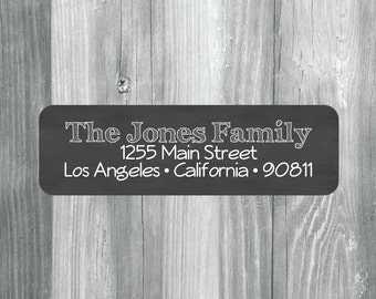 140 Custom Return Address Labels, Return Address Stickers, Mailing Label Stickers, Rectangular Address Labels, Chalkboard Labels