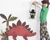 Stegosaurus Fabric Wall Decal, Large - Dinosaur Wall Decal