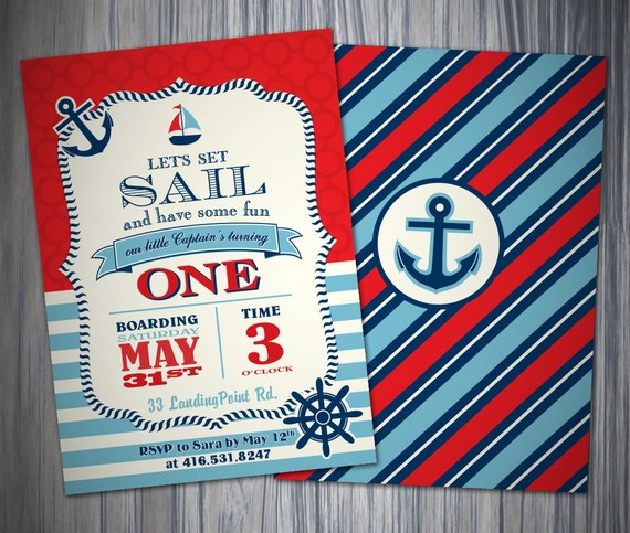 Nautical First Birthday Invitations was very inspiring ideas you may choose for invitation ideas