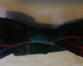 Boys Dark Tartan bow Tie