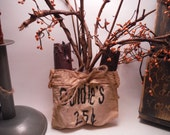 Primitive Candle Holder Bag with Chubby Grubby Scented Candle
