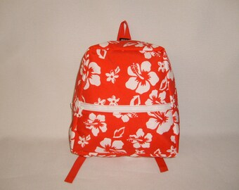 backpack junior or adult size Hawaiian print,Light weight backpack made in U.S.A.