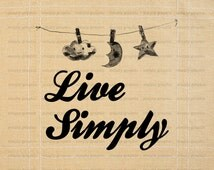 Popular items for live simply wall art on etsy for Live simply wall art