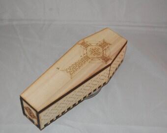 Decorative coffin shaped box
