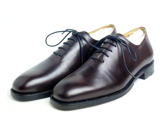 Handmade Minimalism Men's Dress Shoes,Classic Vintage London Pattern