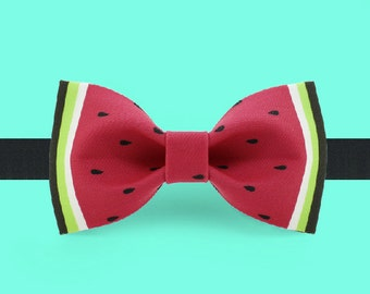 Watermelon Bow Tie-  Red bow tie - Summer bow tie - Colorful bow tie - Adjustable Bowtie