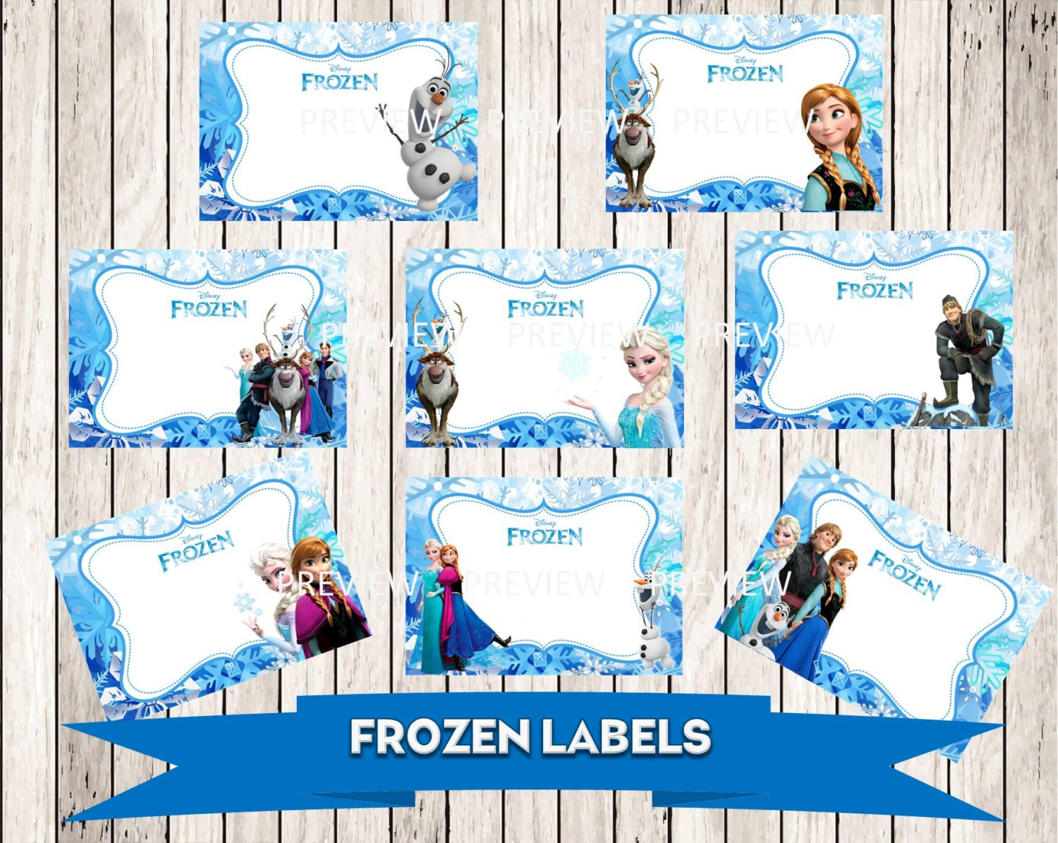 It's just an image of Comprehensive Frozen Printable Labels