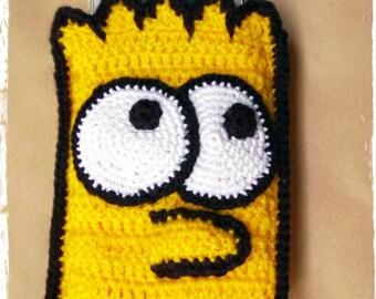 Bart Simpsom  Crochet Phone Case, iPhone 4, iPhone 5