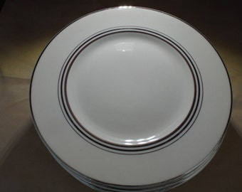 Syracuse China USA Old Ivory with Nimbus Platinum dinner plate