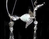 Greyhound Whippet Sighthound Angel Heart Hound Jeweled Ornament
