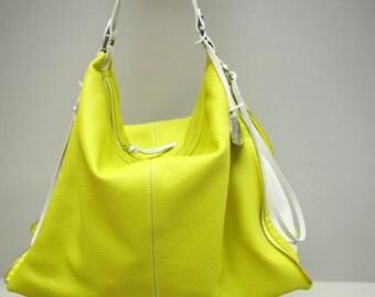 Pilot: Handbag cult for spring - summer 2014. Lemon / Ice White