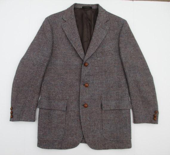 veste harris tweed vintage 3 bouton ecosse laine manteau. Black Bedroom Furniture Sets. Home Design Ideas