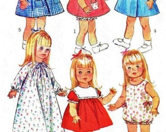 """Toddler Doll Clothes Patterns for 18"""" Doll"""