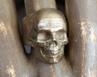 Stainless Steel Yorick Memento Mori Skull Ring