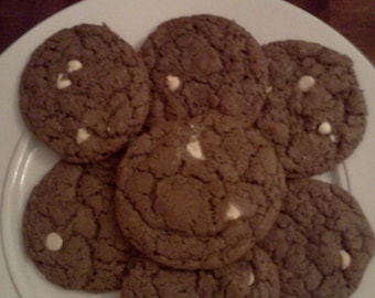 Homemade White Chocolate Chip Brownie Cookies!