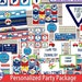 Transportation Personalized Party Package, Cupcake Toppers, DIY, Printable, Birthday Banner, Water Bottle Wrappers, Favor Tags