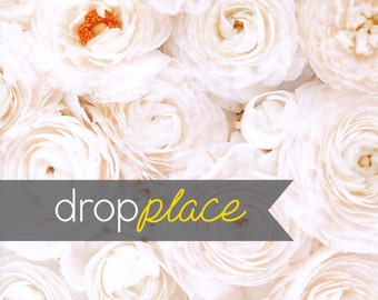 Floral Flower Backdrop Close up of White Roses Flowers Photography Background Floor Drop Wedding, Photo Booth  (Multiple Sizes Available)