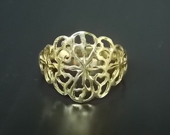 Womens Vintage Estate 14K Yellow Gold Ring 2.33g #E852