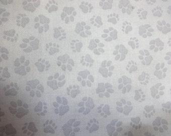 VIP Fabrics Gray w/Dog Paws 68