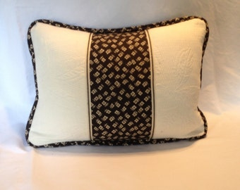 Black and Creme This pillow Ralph Lauren Pillow Cover