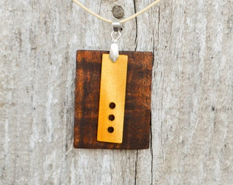 Exotic Wood Necklace